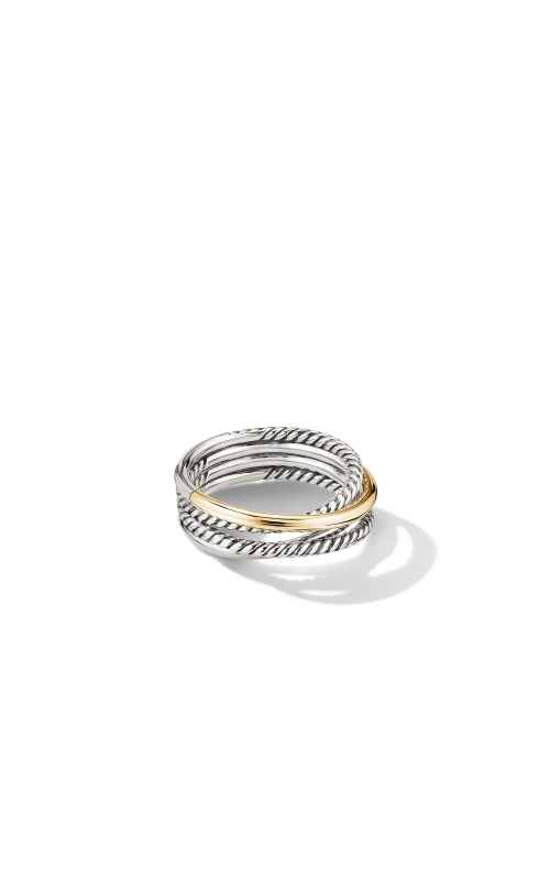 Crossover Narrow Ring with 18K Yellow Gold product image