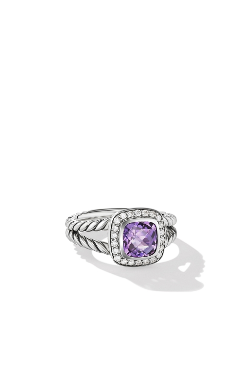 Petite Albion® Ring with Amethyst and Diamonds product image