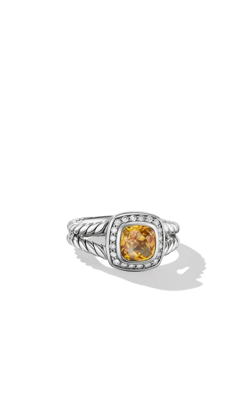 Petite Albion® Ring with Citrine and Diamonds product image
