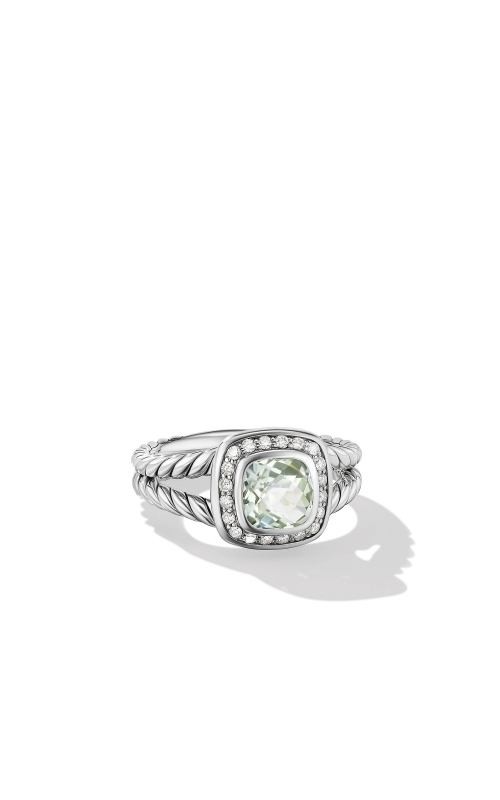 Petite Albion® Ring with Prasiolite and Diamonds product image