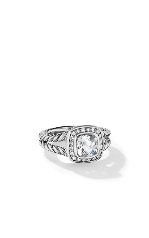 Petite Albion Ring with White Topaz and Diamonds product image