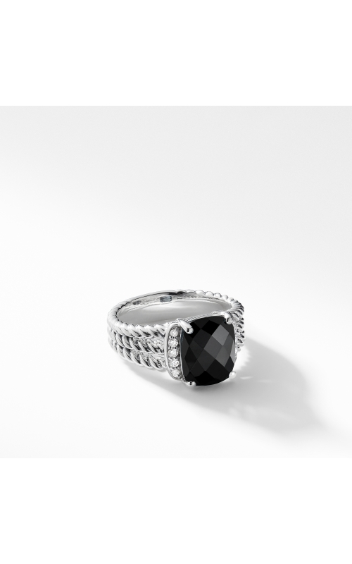 Petite Wheaton® Ring with Black Onyx and Diamonds product image