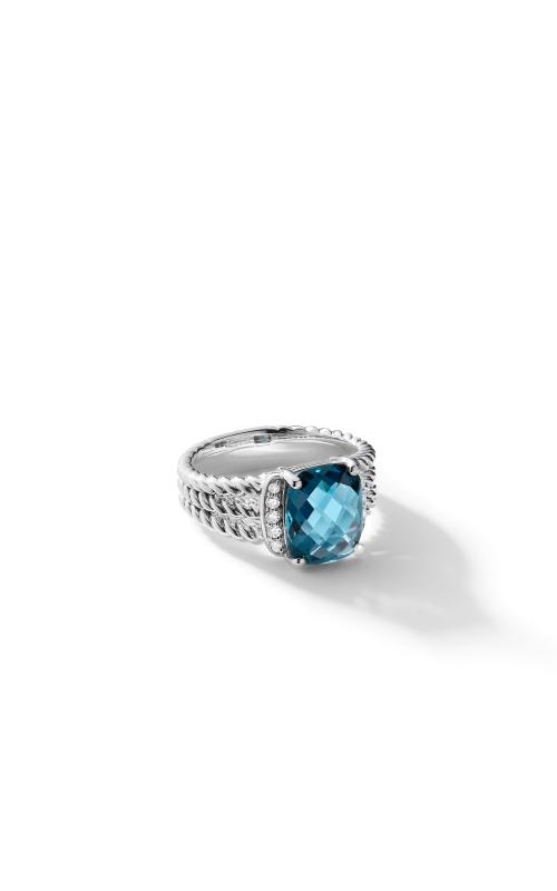 Petite Wheaton® Ring with Hampton Blue Topaz and Diamonds product image