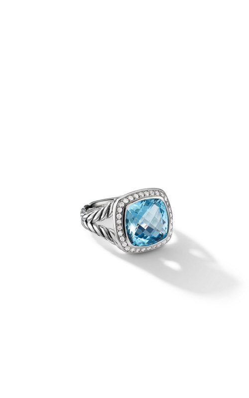 Ring with Blue Topaz and Diamonds product image