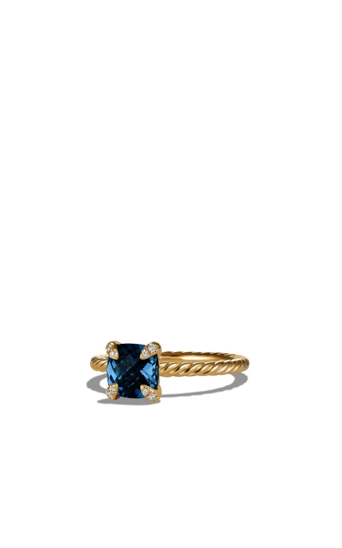 Chatelaine® Ring with Hampton Blue Topaz and Diamonds in 18K Gold product image