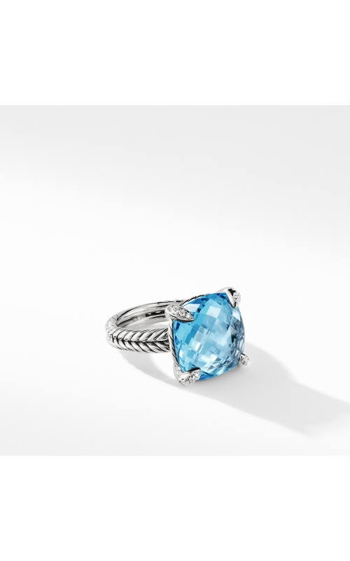 Chatelaine® Ring with Blue Topaz Diamonds 1 product image