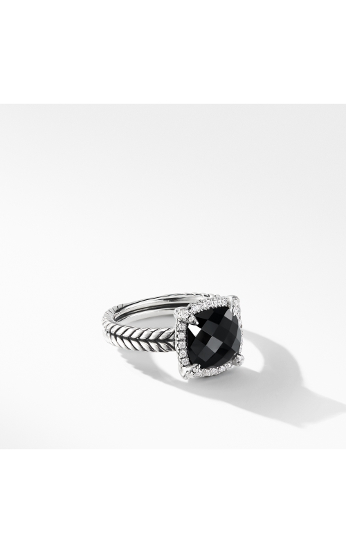 Chatelaine® Pave Bezel Ring with Black Onyx and Diamonds mm product image