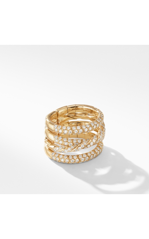 Paveflex Four Row Ring with Diamonds in 18K  Yellow Gold product image