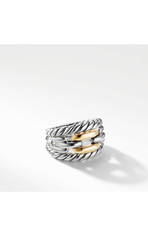 Wellesley Link Three-Row Ring with 18K Gold product image