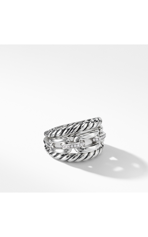 Wellesley Link? Three-Row Ring with Diamonds product image