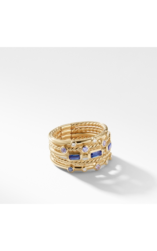 Novella Stack Ring in Light Blue Sapphire and Purple Sapphire with Diamonds product image