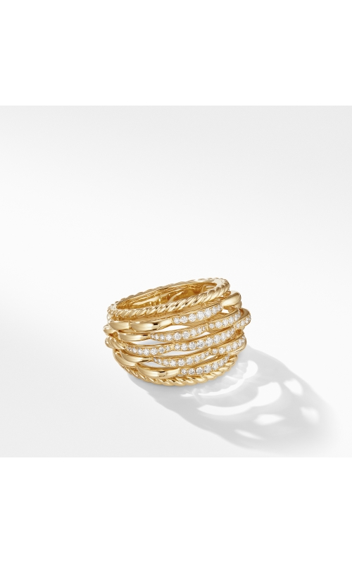 Tides Woven Ring in 18K Yellow Gold with Diamonds product image