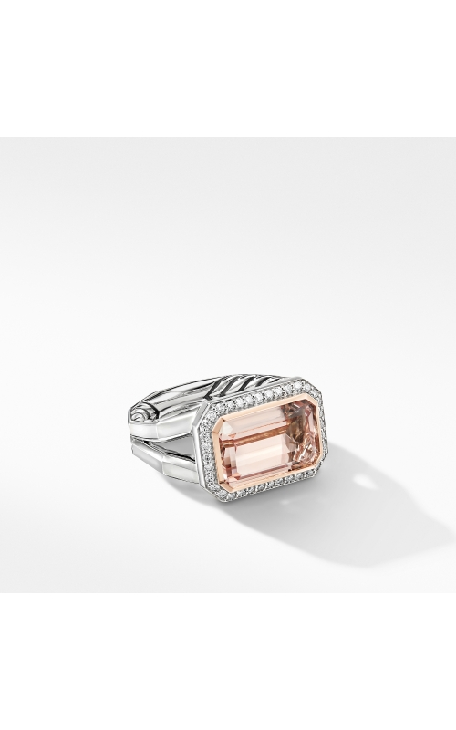 Novella Statement Ring with Morganite, Pavé Diamonds and 18K Rose Gold product image