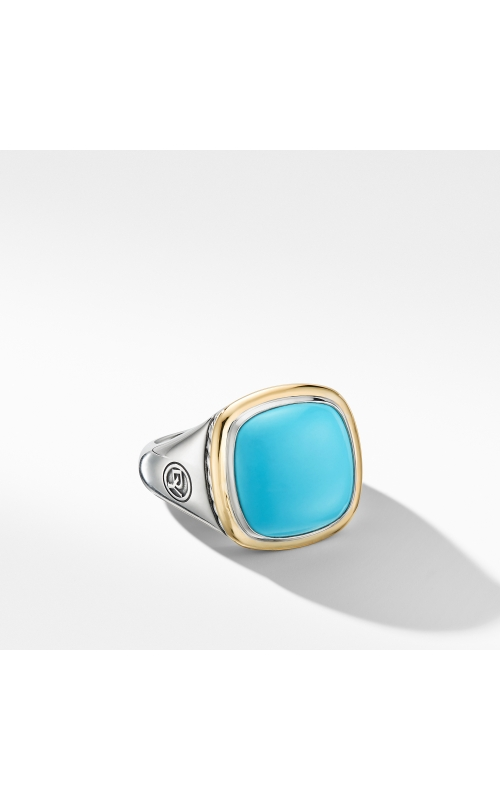 Albion® Ring with Reconstituted Turquoise and 18K Yellow Gold product image