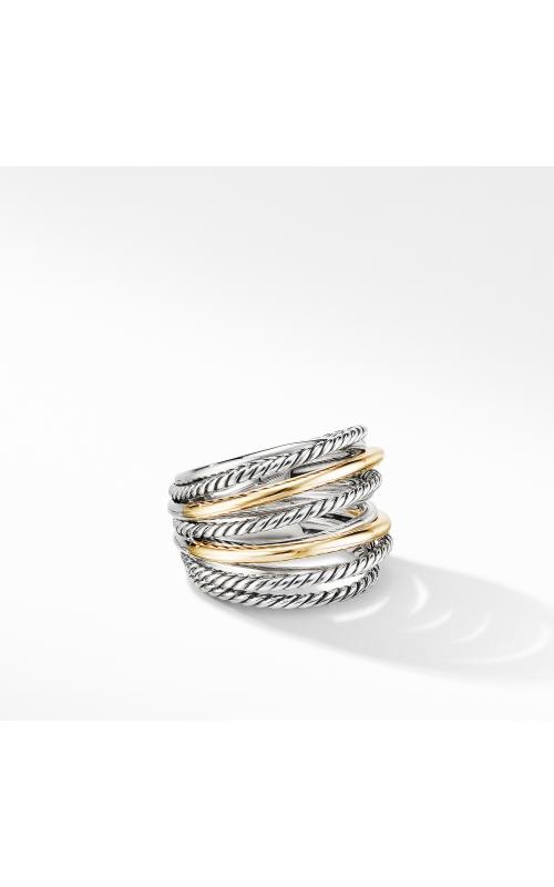 Crossover Wide Ring with 18K Yellow Gold product image