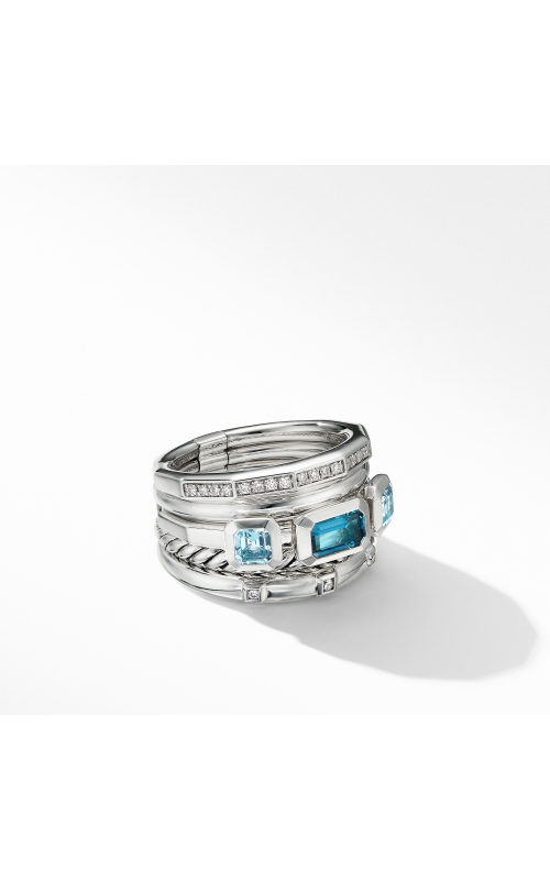 Stax Wide Ring with Hampton Blue Topaz and Diamonds product image