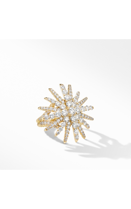 Starbust Statement Ring in 18K Yellow Gold with Pavé Diamonds product image