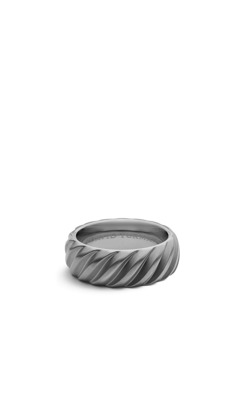 Modern Cable Wide Band Ring with Gray Titanium product image