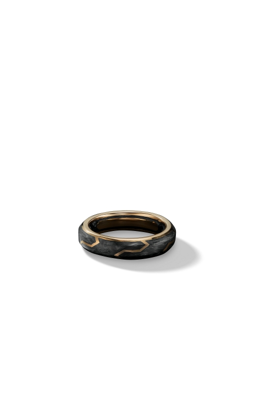 Forged Carbon Band Ring in 18K Gold, 6mm product image