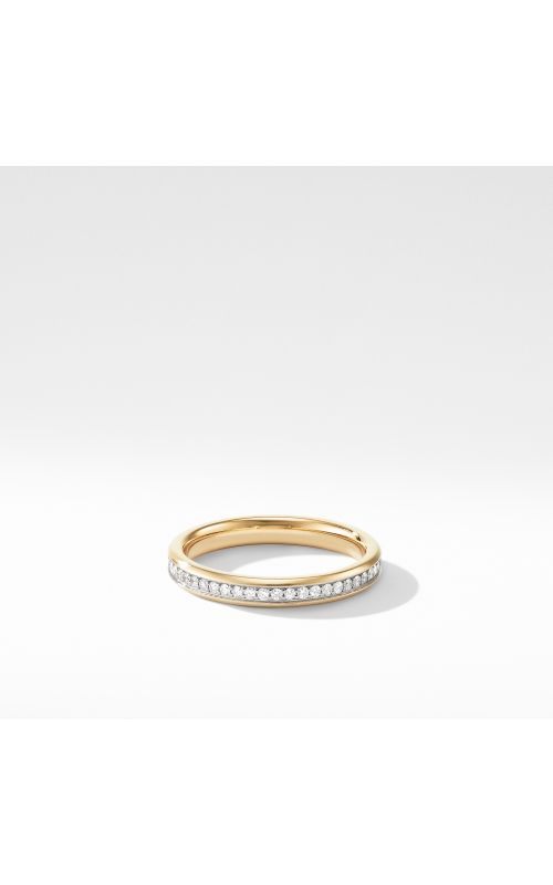 Beveled Band Ring in 18K Yellow Gold with Diamonds product image