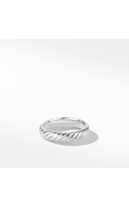 Cable Band Ring in 18K White Gold product image