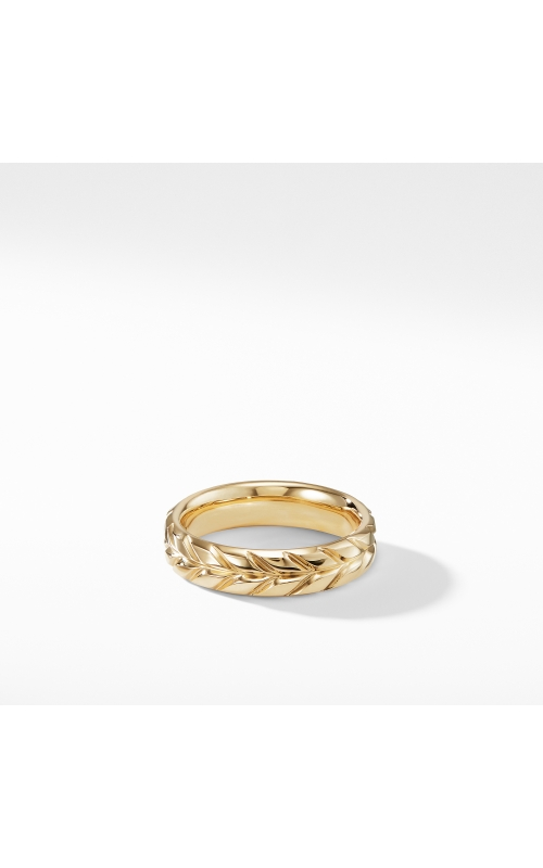 Chevron Band Ring in 18K Yellow Gold product image