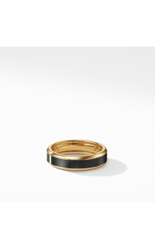Beveled Band Ring in 18K Yellow Gold with Black Titanium product image