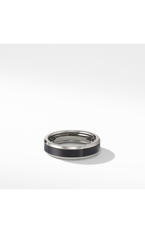 Beveled Band Ring in Grey Titanium with Black Titanium product image