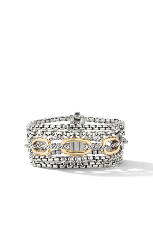 Multi-Row Chain Bracelet with 18K Yellow Gold product image