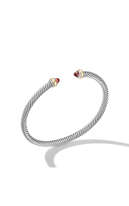 Cable Classic Bracelet with Garnet and 18K Yellow Gold product image