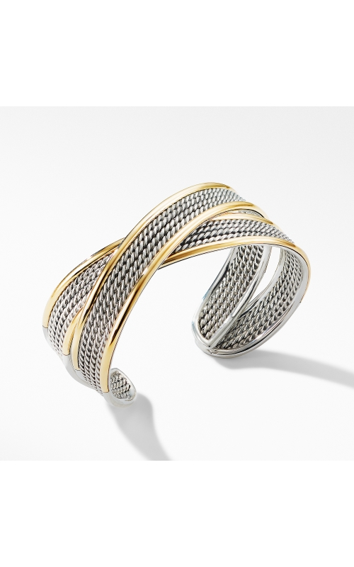 DY Origami Narrow Crossover Cuff Bracelet with 18K Yellow Gold product image