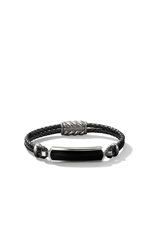 Station Black Leather Bracelet with Black Onyx product image