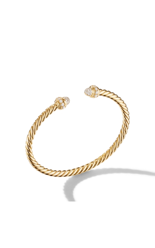 Cable Bracelet in 18K Yellow Gold with Diamonds product image