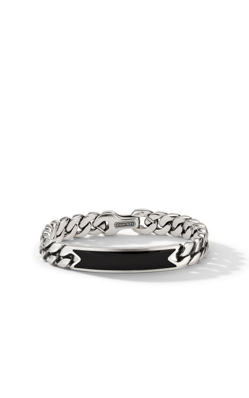Curb Chain ID Bracelet with Black Onyx product image
