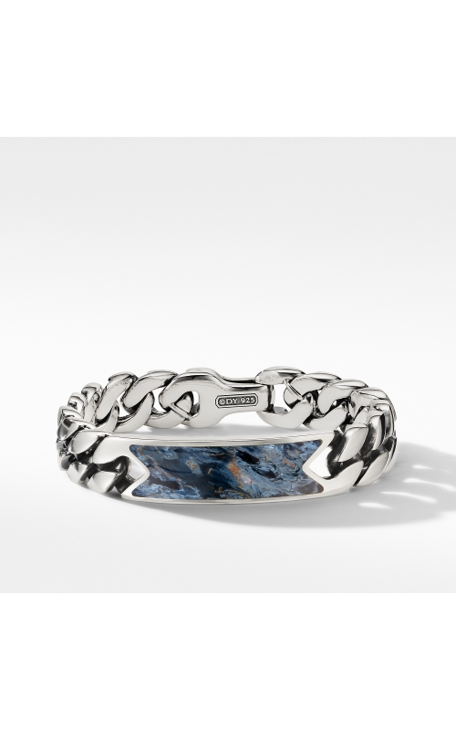 Curb Chain ID Bracelet with Pietersite product image