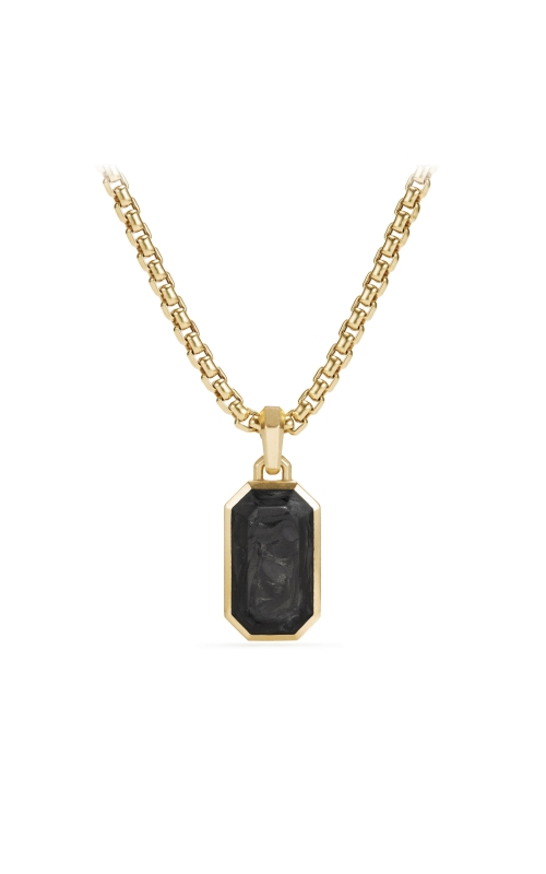 Forged Carbon Amulet with 18K Gold, 21mm product image