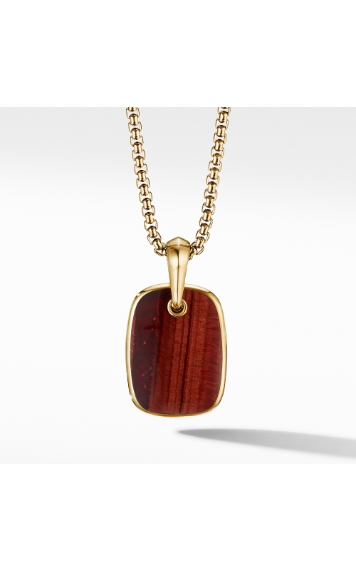 Tablet Amulet in 18K Yellow Gold with Red Tiger's Eye product image