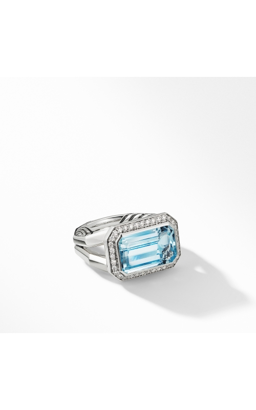 Novella Statement Ring with Blue Topaz and Pavé Diamonds product image