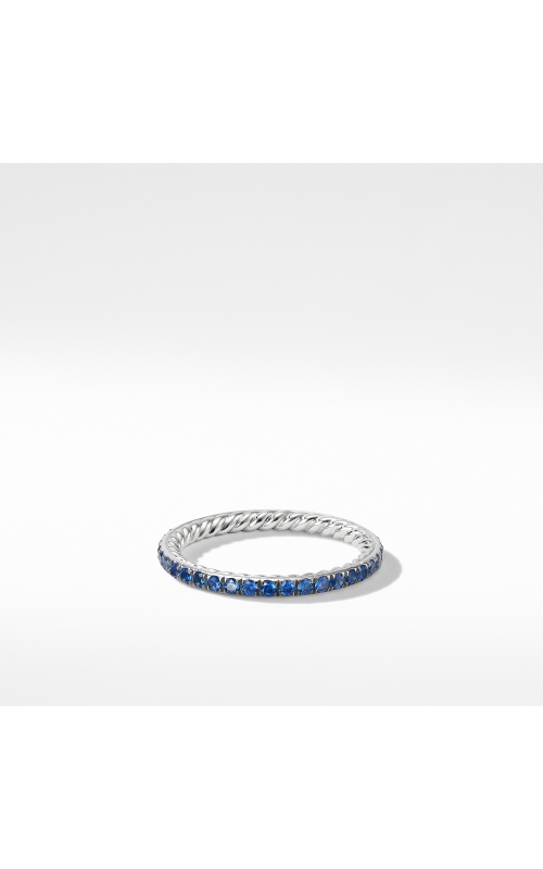 DY Eden Band Ring in Platinum with Blue Sapphires product image