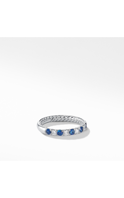 DY Eden Eternity Wedding Band in Platinum with Blue Sapphires and Diamonds product image