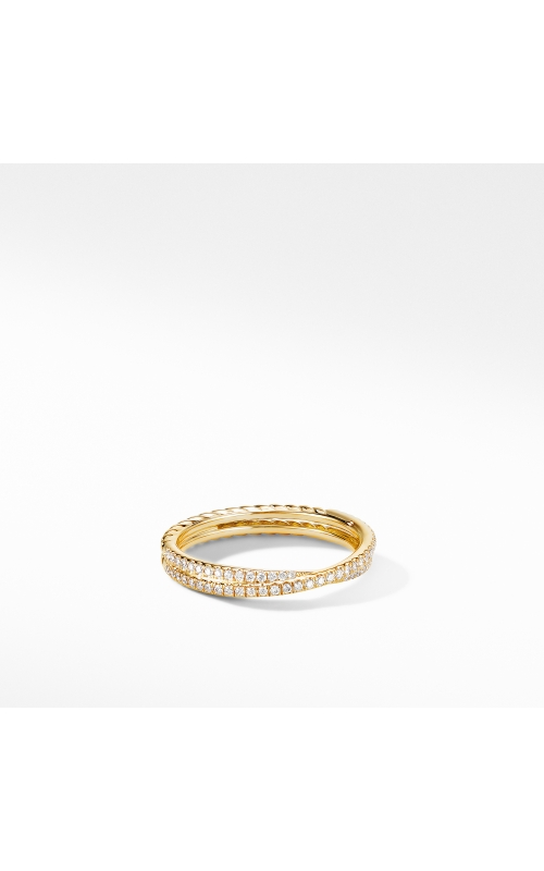 Micro Pavé DY Crossover® Band Ring in 18K Yellow Gold product image