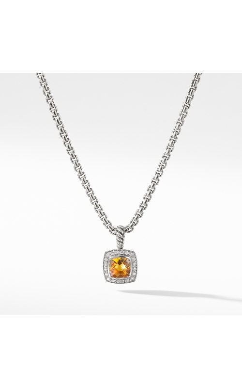 Pendant Necklace with Citrine and Diamonds product image
