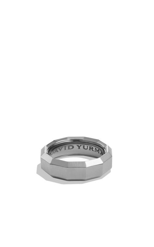 Faceted Band Ring in Grey Titanium product image