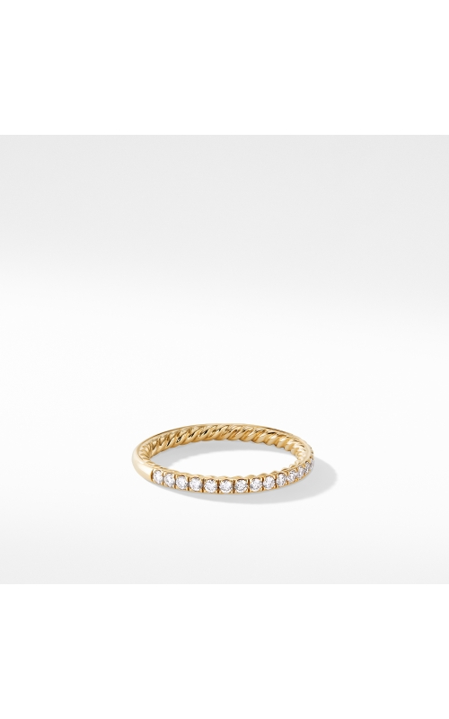 DY Eden Partway Eternity Band Ring in 18K Yellow Gold with Pavé Diamonds product image