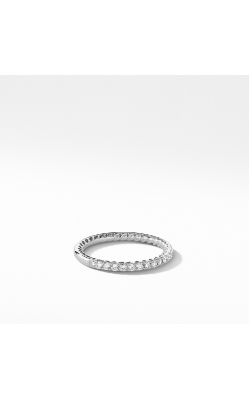 DY Eden Partway Eternity Band Ring in Platinum with Pavé Diamonds product image
